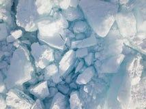 Is av Lake Baikal från en höjd Royaltyfria Foton