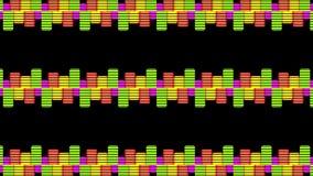 AV maakt de projectie Audiomuziek Niveaus Grafische Computer Geproduceerde Technologie gelijk royalty-vrije illustratie