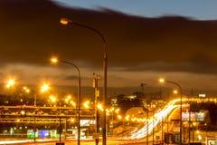 Av Moskvaringleden på natten Fotografering för Bildbyråer