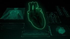SA and AV Node signal in the Heart with Human Body