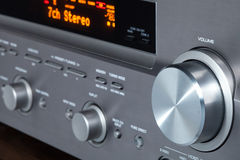 Av Receiver. This is audio video receiver, one component of  home cinema Stock Images