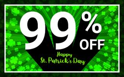 99% AV Sale den lyckliga StPatrick dagen stock illustrationer