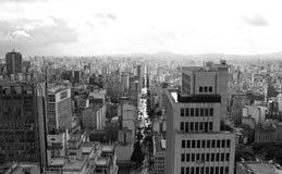 Av Sao Joao and Sao Paulo downtown, Sao Paulo, Brazil Stock Image