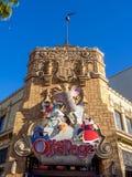Av sidapresentaffären på det Disney Kalifornien affärsföretaget parkera Fotografering för Bildbyråer