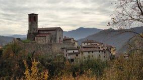 By av Tuscany Royaltyfri Fotografi