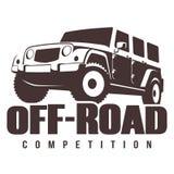 Av-väg bilkonkurrens Arkivfoto