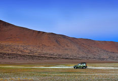 Av-väg medelkörning i de indiska himalayasna Royaltyfria Foton