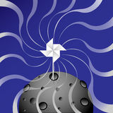Av vindspinnaren vektor illustrationer