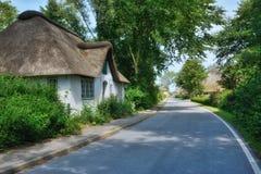 By av Wasserkoog, Eiderstedt halvö, norr Frisia, Tyskland Royaltyfri Foto