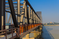 The Ava Bridge on the Irrawaddy , Sagaing in Myanmar (Burmar). The Ava Bridge on the Irrawaddy , The way to Sagaing city , Sagaing in Myanmar (Burmar Stock Photography