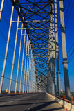Ava Bridge sul Irrawaddy, Sagaing nel Myanmar (Burmar) fotografie stock libere da diritti