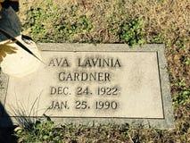 Ava Gardner. 's gravesite sunset memorial Royalty Free Stock Image