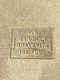 Ava Gardner. 's gravesite at sunset memorial park smithfield nirth carolina Royalty Free Stock Photos