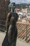Ava Gardner statue. In Tossa de Mar Spain Stock Photography