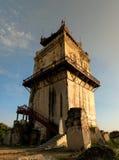 Ava masonry watchtower. Example of early 19th century Burmese architecture, Myanmar Stock Photos