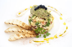 Avacado和鱼子酱 库存照片