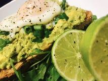 Avacado heaven. Avocado toast With citrusy lime juice Stock Photography