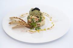 Avacado och kaviar Fotografering för Bildbyråer