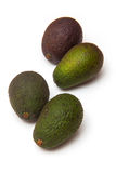 Avacado's isolated on a white studio background. Royalty Free Stock Photography