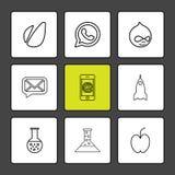 avacardo, whatsapp, Mitteilung, E-Mail, Mobile, Rakete, Apfel, vektor abbildung