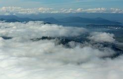Avacha Bay in Pacific Ocean on the southeastern coast of Kamchatka Peninsula. Stock Image