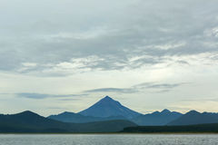 Avacha Bay and Vilyuchinsky stratovolcano. Stock Photography
