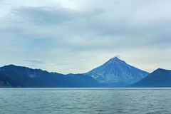 Avacha Bay and Vilyuchinsky stratovolcano. Royalty Free Stock Image