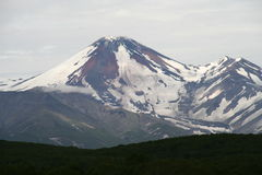 Avacha Volcano or Avachinskaya Sopka Stock Images