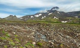Avacha Volcano or Avachinskaya Sopka on Kamchatka Peninsula Royalty Free Stock Photography