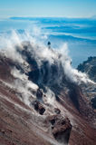 Avacha Volcano on Kamchatka ,  Russia, Royalty Free Stock Images