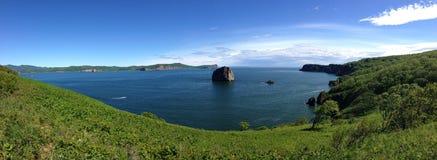 Avachabaai, poorten aan Vreedzame Oceaan Stock Afbeelding