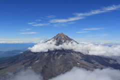 Avachinskiy Volcano. Great view of the mountain with the active volcano Stock Images