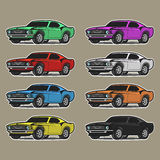 8 available background car cartoon easy edit eps format isolated layers separated vector white Στοκ εικόνες με δικαίωμα ελεύθερης χρήσης