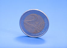 2 available coin euro high resolution vector very Στοκ Εικόνα