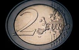 2 available coin euro high resolution vector very Στοκ εικόνα με δικαίωμα ελεύθερης χρήσης