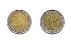 2 available coin euro high resolution vector very Στοκ Φωτογραφίες