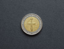 2 available coin euro high resolution vector very Στοκ φωτογραφία με δικαίωμα ελεύθερης χρήσης