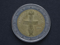 2 available coin euro high resolution vector very Στοκ Φωτογραφίες