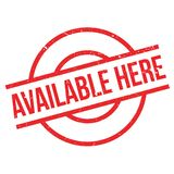 Available Here rubber stamp Stock Photography