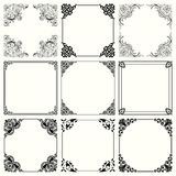 Decorative frames set 57. Available in high-resolution and several sizes to fit the needs of your project Royalty Free Stock Photography