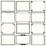 Decorative simple frames set 9. Available in high-resolution and several sizes to fit the needs of your project Royalty Free Stock Photos