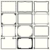 Decorative simple frames set 10. Available in high-resolution and several sizes to fit the needs of your project Royalty Free Stock Photo
