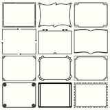 Decorative simple frames set 12. Available in high-resolution and several sizes to fit the needs of your project Royalty Free Stock Photos