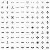 100 Design Elements. Available in high-resolution and several sizes to fit the needs of your project Royalty Free Illustration