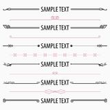Text dividers and separators set 4. Available in high-resolution and several sizes to fit the needs of your project Stock Image