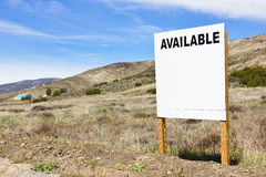Available Sign. Posted in a rural scene Royalty Free Stock Photography