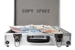 Avails. Money case on white background with clipping path and copy space Royalty Free Stock Photo