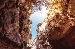 Avakas Gorge. Paphos District, Cyprus Royalty Free Stock Photography