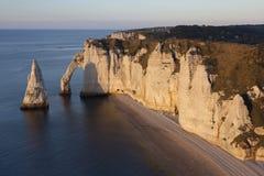 Aval cliff, Etretat, Cote d'Albatre, Pays de Caux, Seine-Maritim Royalty Free Stock Photography