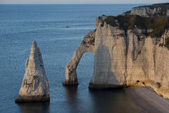 Aval cliff, Etretat Stock Photography